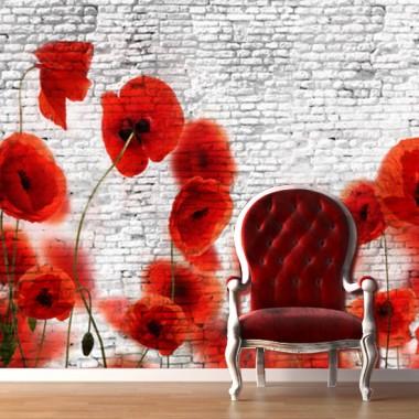 dekoracje ścian z motywem roślinnym