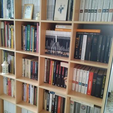 Książki są naszą miłością... Jesteśmy czytaczami..., zbieraczami..., kolekcjonerami.... Żeby tylko było jeszcze trochę więcej czasu na ich czytanie!!! Ale dajemy radę :) Serdecznie pozdrawiam :)