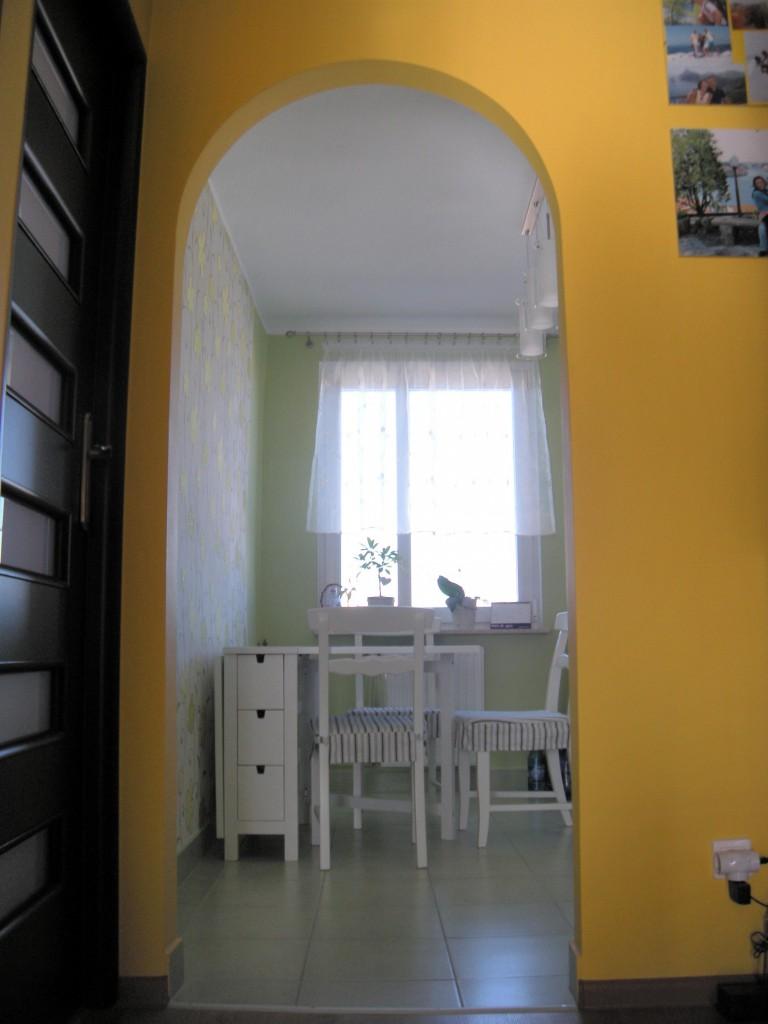 Szaro Biało Zielona Kuchnia Deccoriapl