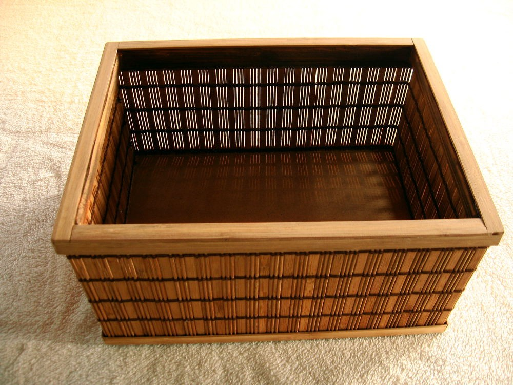 Dekoracje, Pudełka bambusowe