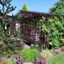 Ogród, Maja P i kule dekoracyjne u mojego taty w ogrodzie
