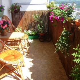 mój kochany balkon w bloku