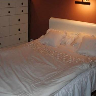 sypialnia w świątecznym ubraniu