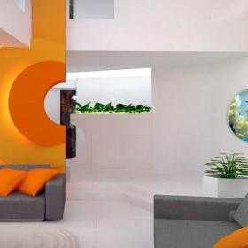 Dom w Radzyminie - projekt salonu