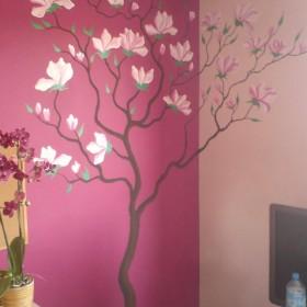 magnolie na ścianie