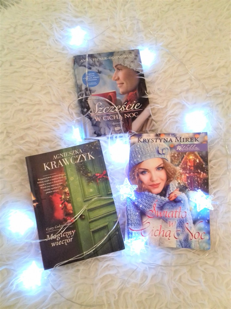 Salon, Ksiązki świąteczne-KOCHAM:) - Magiczny wieczór- A.Krawczyk, Światło w cichą noc-K.Mirek