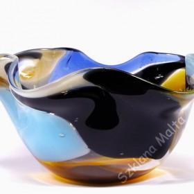 Ręcznie wykonany wazon i miska szklana Mdina Glass
