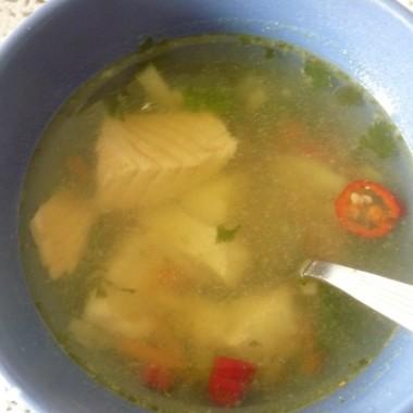 ..................i pyszna zupa z łososia.................