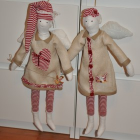 Świąteczne tildowe lale