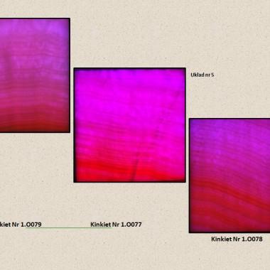 Aranżacja z 3 szt. Kinkietów o powierzchni z naturalnego transparentnego onyksu podświetlana diodami LED sterowana PILOTEM z 20 programami kolorystycznymi ,19 kolorów ,5 stopni regulacji jasności i prędkości