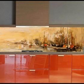 """Panel do kuchni-obraz """"olejny"""" czy pejzaż Toskani?"""