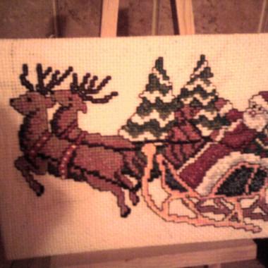 Boże Narodzenie 2010 w decoupage i hafcie krzyżykowym&#x3B;-)
