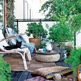 Mini ogródki na balkonie