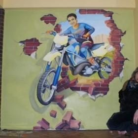 motocros ze ściany - obraz ścienny realistyczny