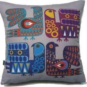 Poduszka inspirowana sztuka ludowa skandynawii
