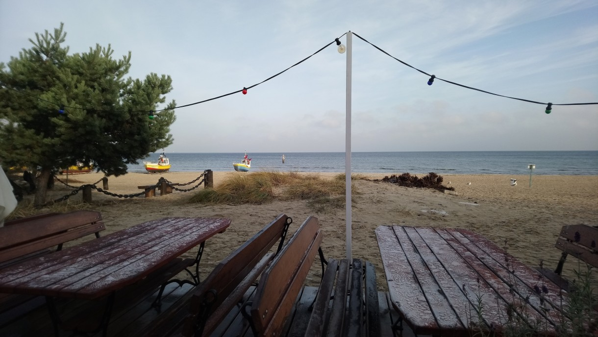 Dekoracje, Niebieska............ przedświąteczna............... - ................i plaża............