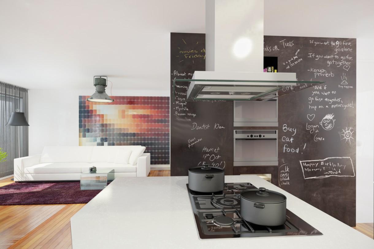 Kuchnia, Kolorowo w minimalistycznym stylu