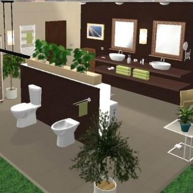 Łazienka w programie do projektowania wnętrz online -Projektuj3D