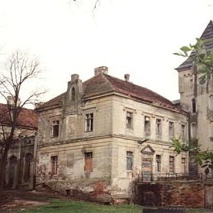 Ruiny zamku w Gałowie z 1874 r.
