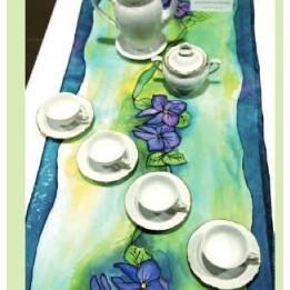 Jedwab ,tkaniny ręcznie malowane