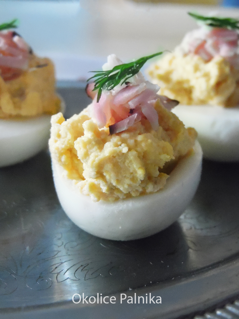jajka faszerowane chrzanem i szynką