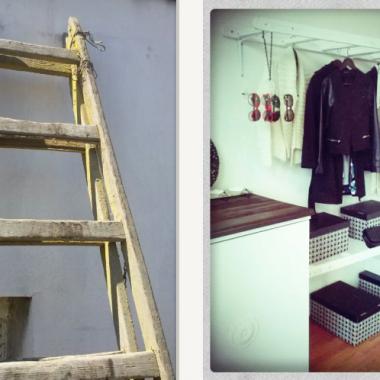 Wy macie szafę z Ikei - my drabinę z rozbiórki &#x3B;)