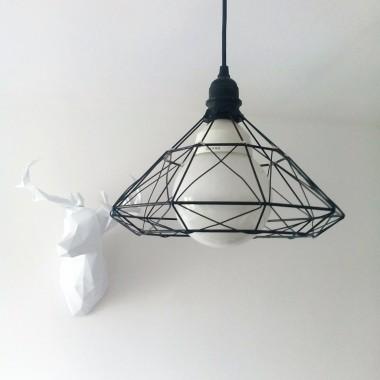 Abażur z drucianego kosza- proste i szybkie DIY