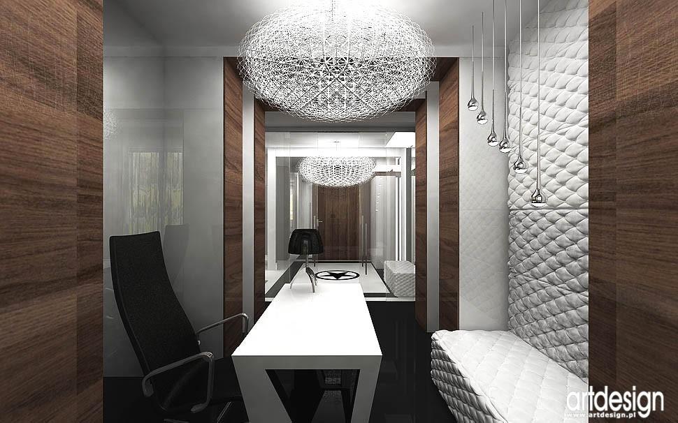 Pozostałe, apartament w Gdańsku - aranżacja domowego biura