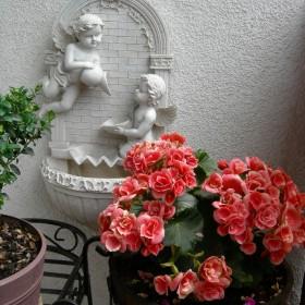 Balkon i mała rabata