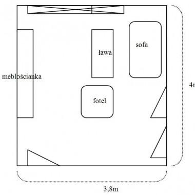 jakie ściany do małego pokoju dziennego