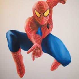 Superbohater w pokoju chłopca