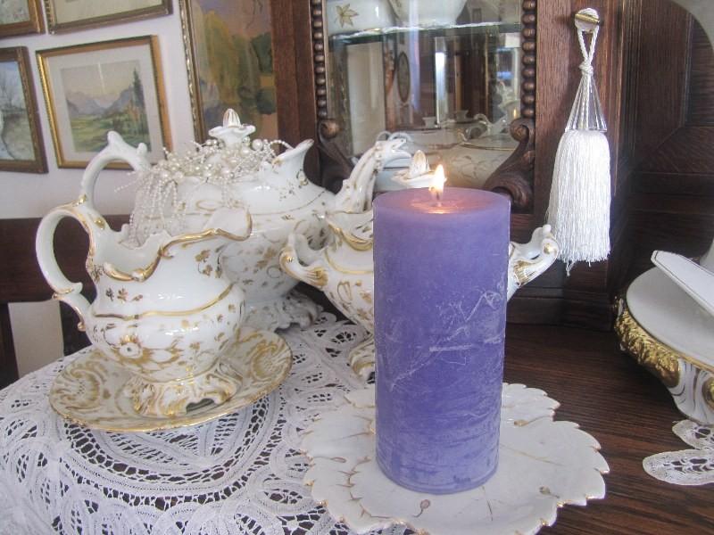 Pozostałe, A u mnie nadal jesiennie... - w salonie trochę fioletu.
