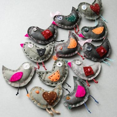 Ptaszki - mała mania szycia :)