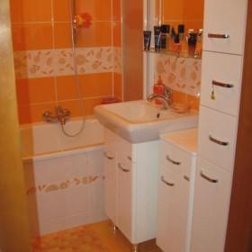 moja pomarańczowa łazienka