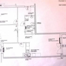 Plan Mieszkania w stanie surowym. pomoc przy kuchni i przedpoko