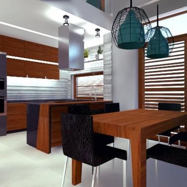 Projekt nowoczesnej kuchni z jadalnią