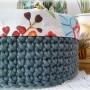 Dekoratorzy, Dekoracje ręcznie wykonane - Koszyk wykonany na szydełku + bawełniane wypełnienie  Zapraszam - www.cudarenki.pl