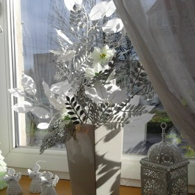 zimowa dekoracja w jadalni