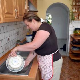 Renata Beger w domu i w swoim gospodarstwie