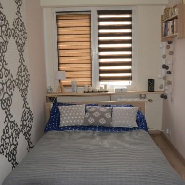 Sypialnia z nową szafą