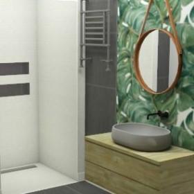 Mała łazienka inspirowana naturą