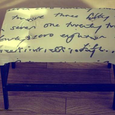 Jak zrobic pikowane obice - siedzenie