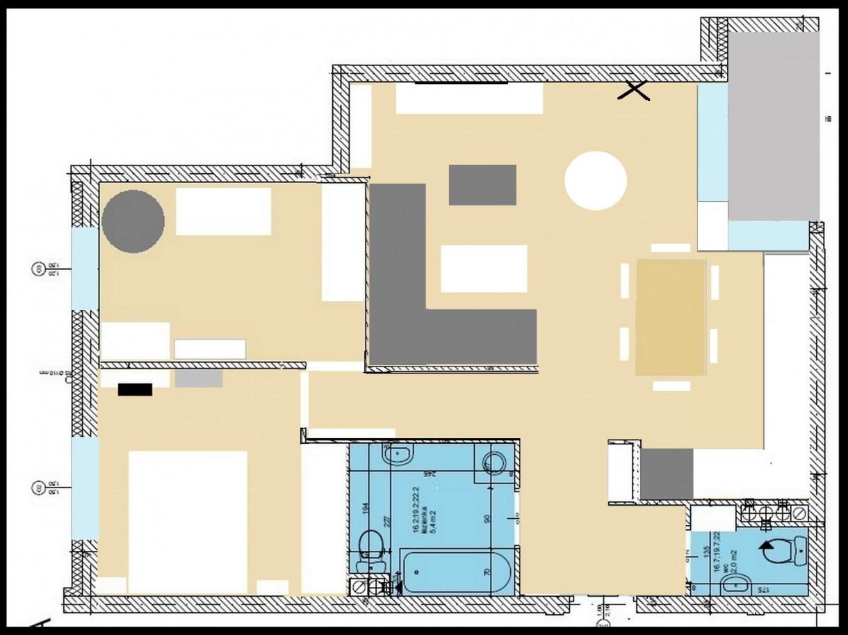Pozostałe, ??? - metraż ok 70 m2 ale układ dość problematyczny...&#x3B;P