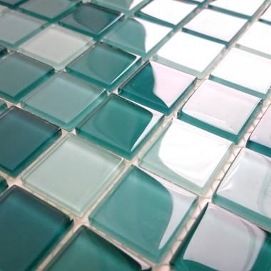 Turkusy  - mozaiki turkusowe  w kuchni , łazience ,
