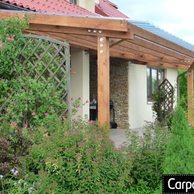 pergola tarasowa z drewna klejonego zadaszenia tarasów  zadaszenie tarasu projekt z poliwęglanu litego Fastlock Uni