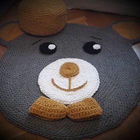 Dywan Miś ze sznurka bawełnianego