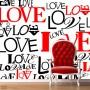 """Pozostałe, dekoracje z literami, cytatami - fototapeta """"love"""""""