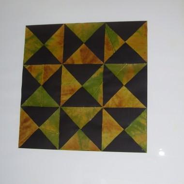 DIY mozaika wycinana z liści