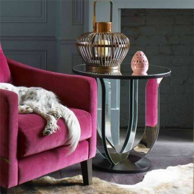 Lustrzany stolik kawowy  stylu Art Deco z Inspirodesign