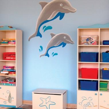 """Malarstwo ścienne dla dzieci """"Delfin"""", """"Palma"""", """"Latarnia morska"""